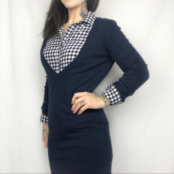 406c8e47a1f LOFT Sweaters - LOFT Navy Deep V Sweater Dress with Angora